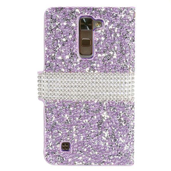 Hybrid Portafoglio in pelle di Bling strass Diamante PU Case Cover carta di credito slot per LG G5 V10 Stylus 2 LS775 G Stylo LS770 LS996