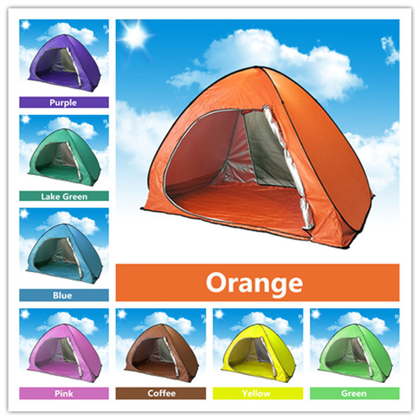 best selling Family Tent for Camping Quick Automatic Opening Tents Outdoors UV Protection SPF 50+ Tent Fishing Beach Travel Lawn Single Layer 10 pcs  lot