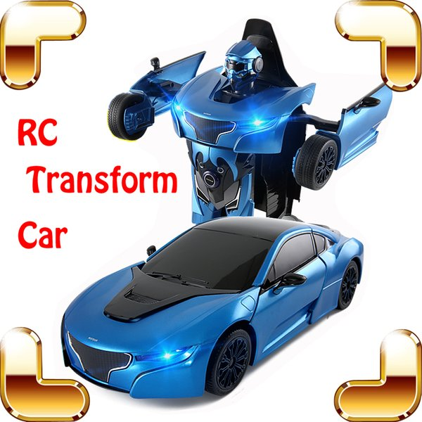 New Arrival Gift RS 1/14 2.4G RC Radio Control Transform Car Roadster Robot Vehicle Electric Children Kids Toys Cool Present