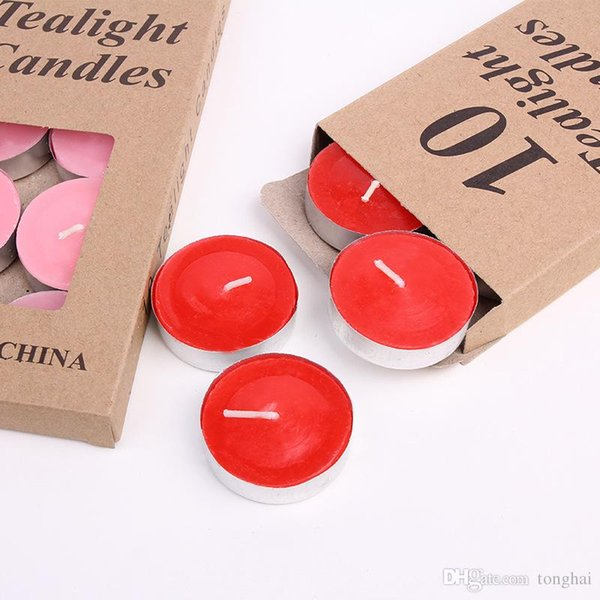 7g burn time 2-2.5hour handmade candles smokeless tasteless tea lights candle for wedding home decoration H210494