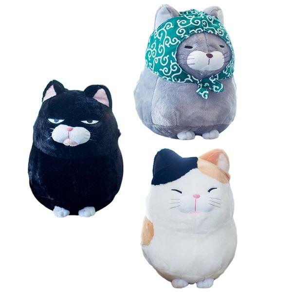 1Pc 30Cm Lovely Beard Steamed Lucky Cat Plush Toys Staffed Cartoon Soft Animal Toys Birthday Gift For Girls Kids Dolls