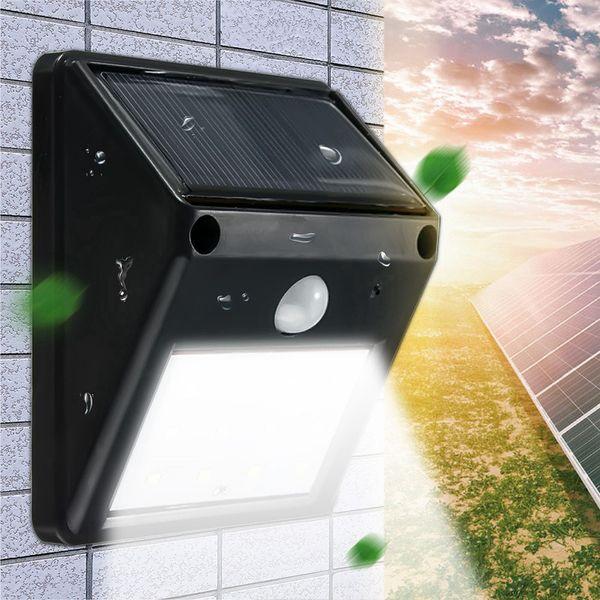 top popular 12 LED Waterproof IP65 Solar Powered Wireless PIR Motion Sensor Light Outdoor Garden Landscape Yard Lawn Security Wall Lamp 2019