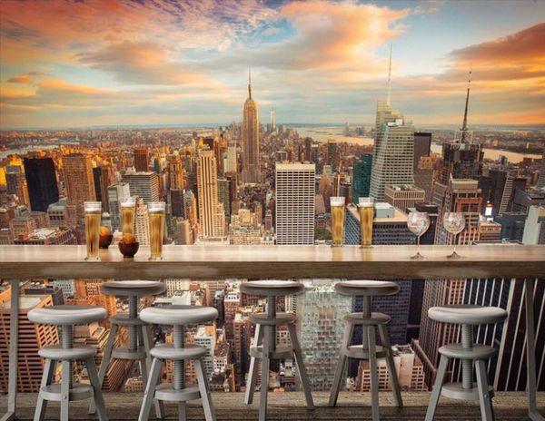 Acheter Manhattan Fond Décran 3d New York City Papier Peint Nuit Urbaine Photo Papier Peint Chambre Tv Canapé Fond Décor Chambre Décor Lit Papier