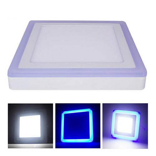 DHL free LED panel lights Double Color Round/Square 6W/9W/16W/24W 3 Models Surface Mounted LED Downlight lighting AC85-265V 50pcs/lot