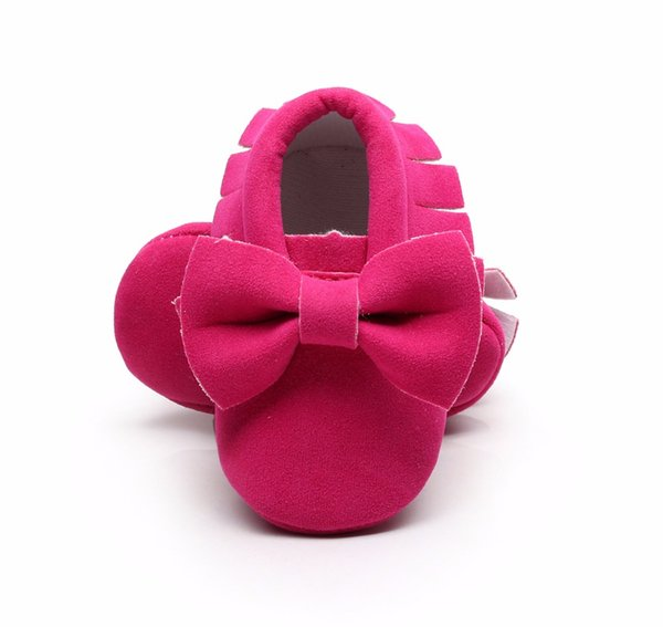 Wholesale- Newest born Baby Girls Princess Infant First Walkers Bowknot Prewalkers Moccasins Crib Soft Shoes