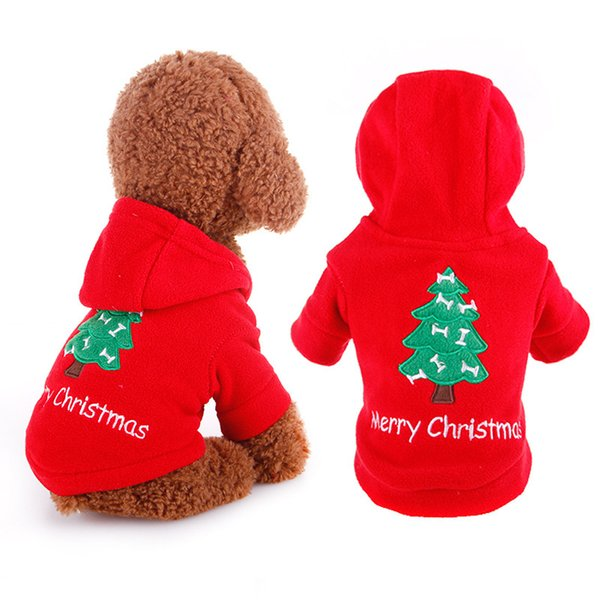 Christmas Costume Pet Clothes Product Supply Diddle Dog Coat Hoodie for Small Dogs Chihuahua Tidy Puppy Suit Attire Pet Supplies S-XL