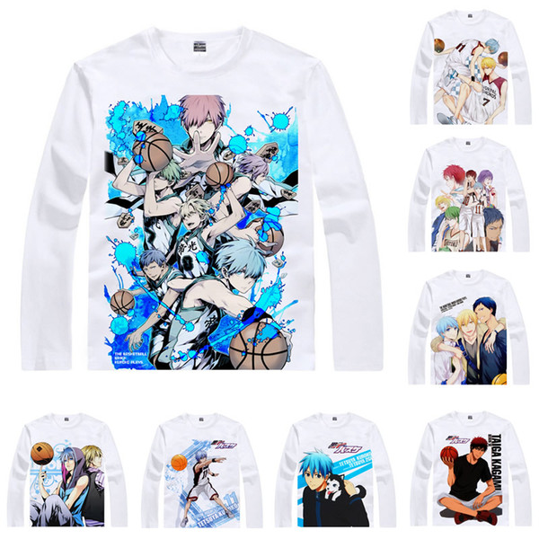 Anime Shirt Kuroko's Basketballer T-Shirts Multi-style Long Sleeve Tetsuya Kuroko Taiga Kagami Cosplay Motivs Kawaii Shirts