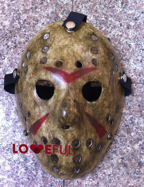 New Make Old Cosplay Delicated Jason Voorhees Freddy Hockey Festival Party Dance Halloween Masquerade Mask --- Loveful