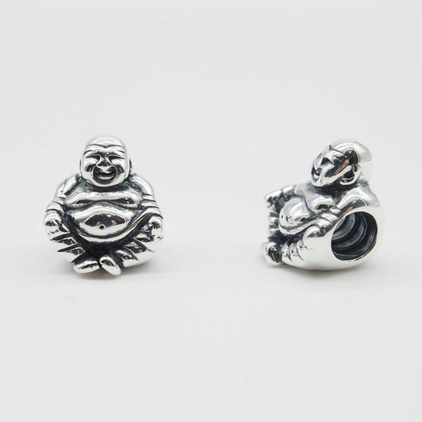Convient aux bracelets d'origine Pandora Bracelets Colliers Bouddha CHARMEMENT DE MEDITATION Perles de bricolage Real Solid en argent sterling 925 non plaqué