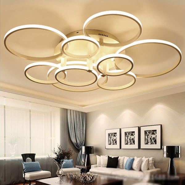 led chandelier lights. Modern Acrylic Ring LED Circle Chandelier Lamp Pendant Light Ceiling Circles Dining Room Led Lights H