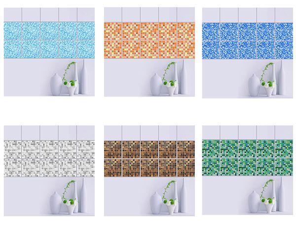 20 * 20cm * 10pcs / set mobili in marmo imitazione PVC impermeabile autoadesivo carta da parati cucina mosaico adesivo parete delle mattonelle