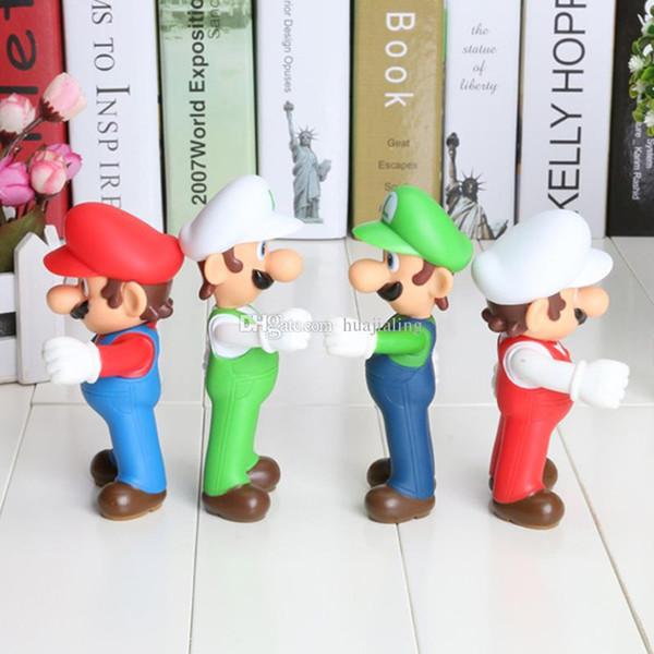 4pcs/set super Mario figure Luigi Mario Action Figures Toys Doll Stand MARIO & LUIGI Plush Doll Super Mario Bros Plush Toy