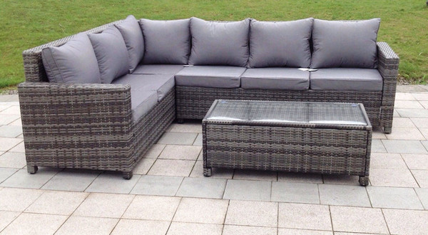 Outdoor Rattan Weave Corner Lounge Sofa Set Rattan Weave Garden Furniture  Set