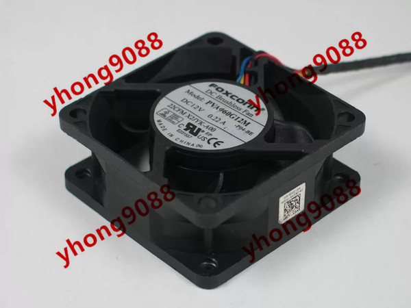 Foxconn PVA060G12M -P04-BE DC 12V 0.22A 4-wire 5-pin connector 60mm 60x60x25mm Server Square Cooling Fan
