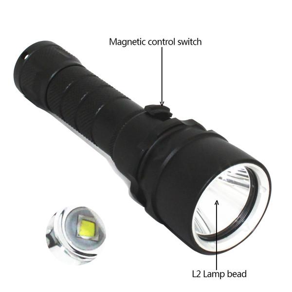 KC Fire Diving Flashlight 3800 Lumen XML L2 LED 100 meters diver Underwater Waterproof Torch Light Lamp DL0001A