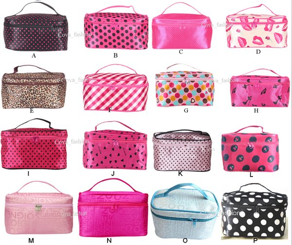 best selling Hot Sale 22 Colors Many Designs Cheap wholesale Women's Travel Makeup quartet cosmetic Bag DHL Free Shipping