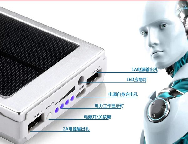 15000mA Mobilephone Solar Power Bank Powerbank for Apple iphone Xiaomi Samsung HUAWEI LG Sony Lenovo Android Phones FedEx Free