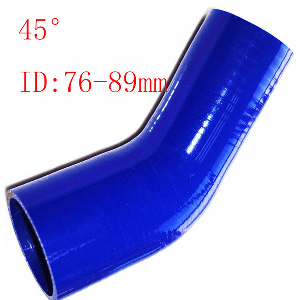 """Universal Samco ID:3""""-3.5"""" ID:76-89mm Silicone 3Ply Straight Silicone Hose Intercooler Coupler Tube Pipe 45reducing silicone pipe hump hose"""