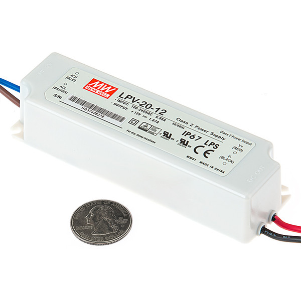 100% D'origine Nouveau 20watt led alimentation du conducteur Meanwell LPV-20-24 ip67 étanche unité d'alimentation 24V pour led lumière