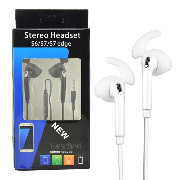 AAA Quality Galaxy S7 Edge Plus Earphone In Ear Stereo Earphone 3 5mm  Headphones Headset With Mic For Samsung Galaxy S6 S7 Edge Cell Phone  Wireless