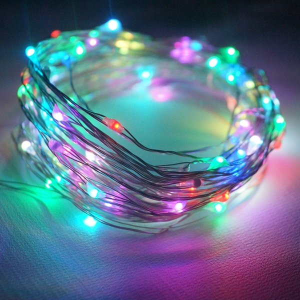 33ft 10m 100 String Lights / Battery Operated Led Copper Wire ...