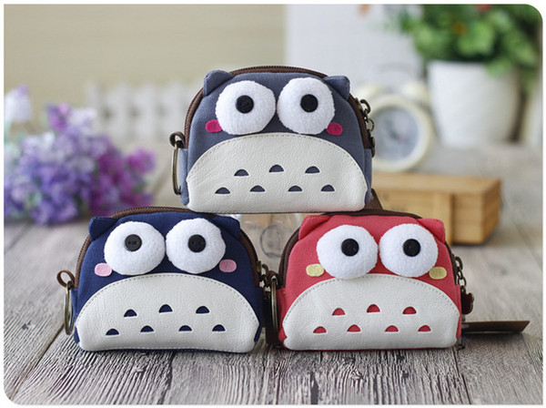 Women Ladies short Vintage Wallets holders top fashion accessories Girls boys Cartoon Animal Canvas Clutch wallets bag and packet Coin Purse