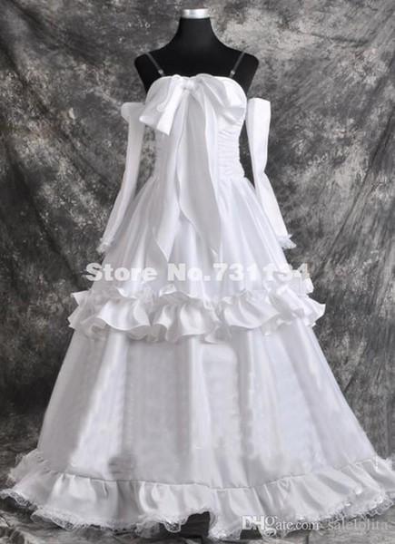 2015 New Women Anime Macross Singer Sheryl Cosplay Gowns White Women Wedding Party Dress For Women