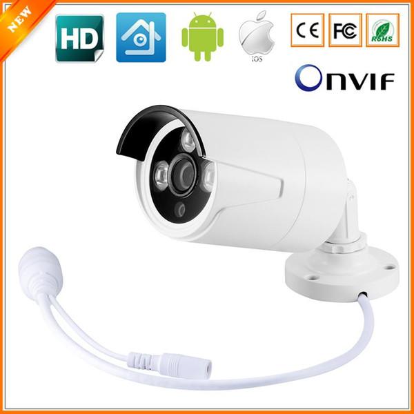 Nuovo arrivo 3 PZ IR ARRAY LED proiettile Telecamera IP esterna 720 P 1.0 MP CCTV con cavo LAN impermeabile HI3518E ONVIF 2.0 XMEYE