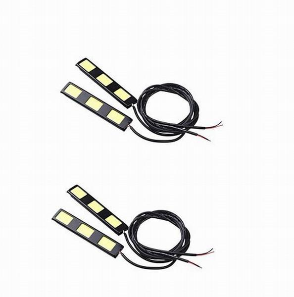 9 W / takım DC12V beyaz 3COB * 2 led Gündüz farları soğuk beyaz sis lambaları veya geri vites E4 su geçirmez 2 pairs JTCL059-ly