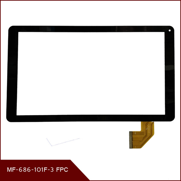 Wholesale- 100% Original 10.1''inch Touch Screen touch Digitizer Replacement Glass Panel MF-686-101F-3 FPC Free shipping