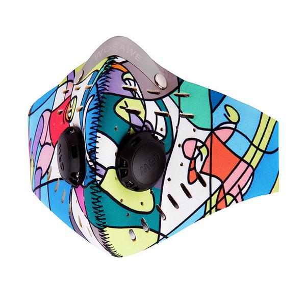WOSAWE extérieur charbon actif masque antipoussière masque de vélo coupe-vent courant masque facial BC309