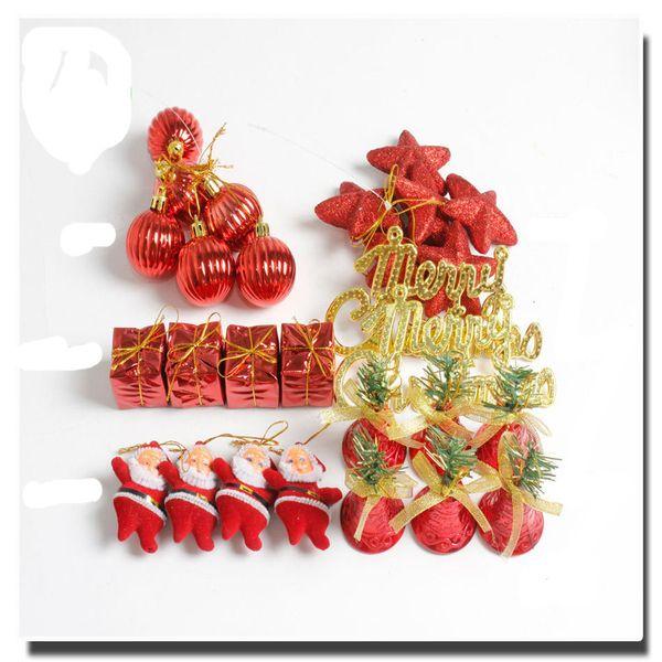 Merry Christmas Decorations Christmas Tree Ornament Santa Claus Bells Gift Box Christmas Balls Gift For Kids