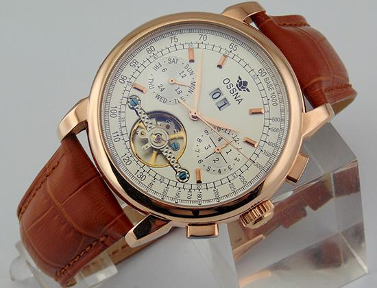 1658 Ossna 42mm White Dial PVD Rose Gold Stainless Steel Case Automatic Men's Gift For Men Watch