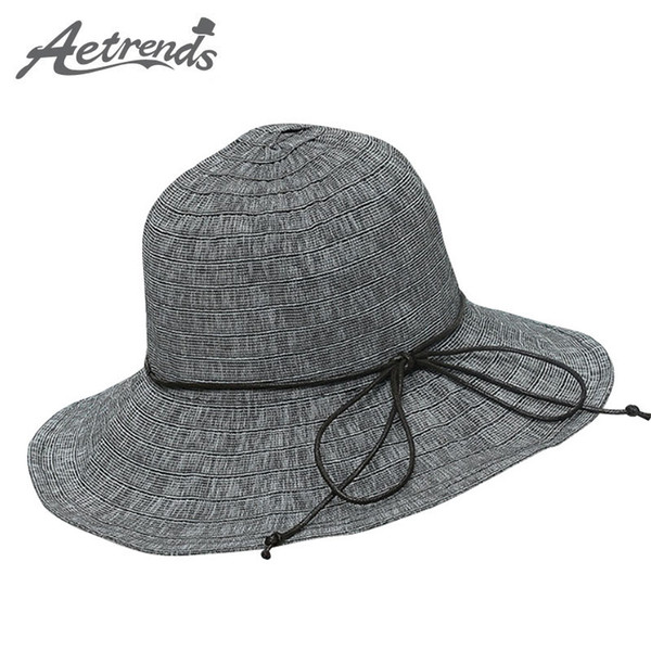 b524a478d Wholesale AETRENDS 2017 Summer Vintage Bow Summer Hats For Women Sun Visor  Beach Hat Panama Casual Travel Cap Z 5141 Hat Store Fedora Hats For Men ...