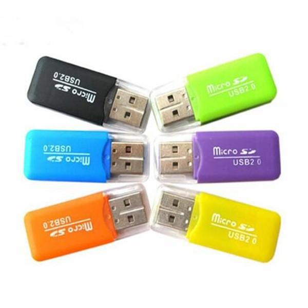 Stable Premium Universel Lecteurs de Carte TF Carte Mémoire Sécurisée Micro T-Flash Micro Nice Adaptateur de Lecteur de Carte Mémoire Mini USB 2.0 TransFlash