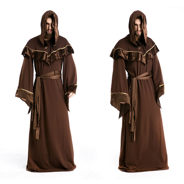 Halloween Costumes Adult Mens Gothic Wizard Costume European Religious Men Priest Master Uniform Fancy Cosplay Costume  sc 1 st  DHgate.com & Halloween Costumes Adult Mens Gothic Wizard Costume European ...