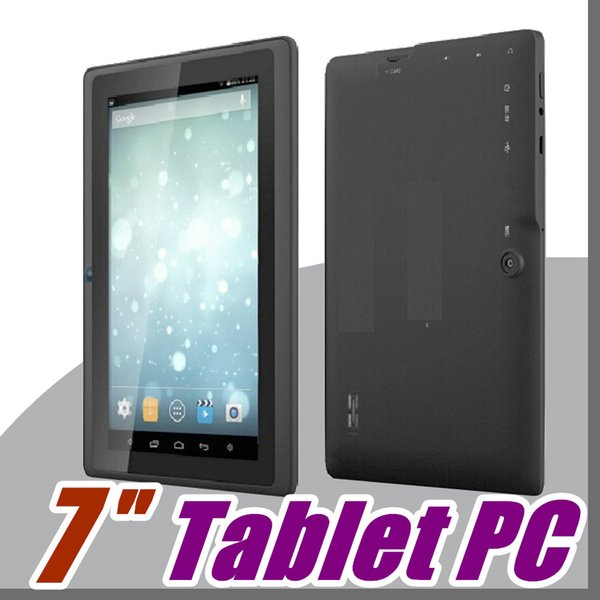 best selling 2019 tablets wifi 7 inch 512MB RAM 8GB ROM Allwinner A33 Quad Core Android 4.4 Capacitive Tablet PC Dual Camera Q88 A-7PB