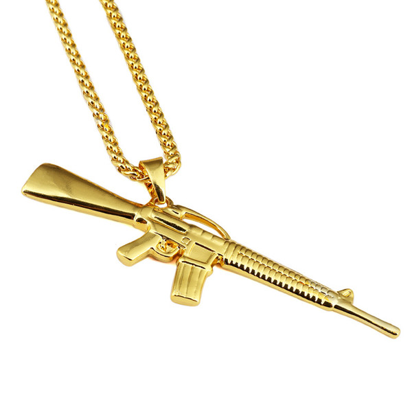 Mens Necklaces Fashion Hip Hop Jewelry Star Pendant 18k Gold Plated Long Chain Punk Rock Micro Necklace For Men