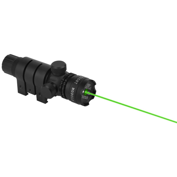 1 satz Optischer Anblick Jagd Optik Zielfernrohr Grün Laser Anblick 4.2 V Schwarz Taschenlampe kostenloser versand