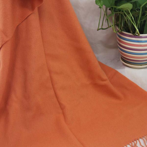 Nouvelle douce écharpe en cachemire dames châle enveloppé femme 70X200CM cachemire 100% surdimensionné à quatre couches de mode Plain Orange 36063