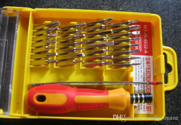 32 em 1 conjunto Micro Bolso Precision Chave De Fenda Kit Multifuncional chave de Fenda Magnética ferramenta de reparo caixa de telefone celular