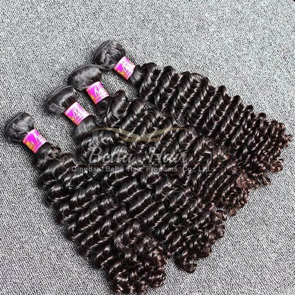Brand Original Hair! 2pcs/Lot 7A 10~24inch Deep Wave Hair Weaves Unprocessed Peruvian Human Hair Extensions Free Shipping