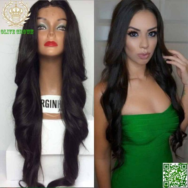 Peruvian Long Human Hair Wigs Wavy Lace Front Wig Body Wave Hair Glueless Full Lace Wig Bleach Knot Top Grade