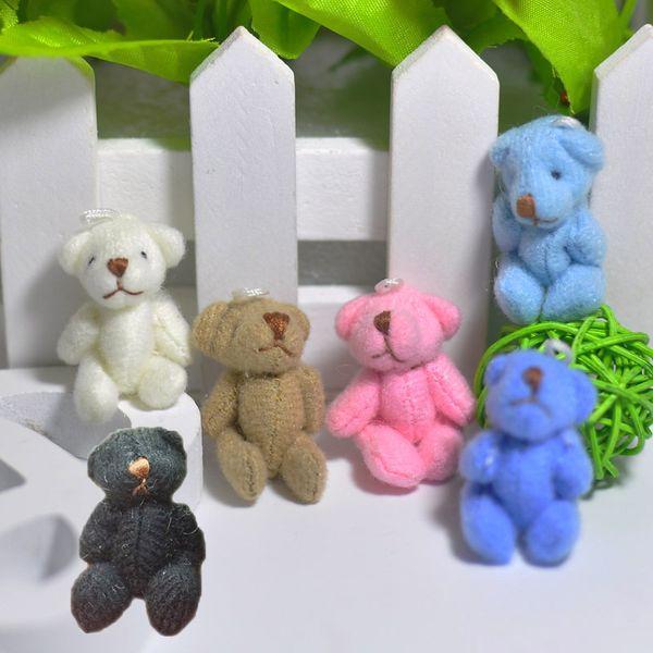 4cm 100pcs Tiny Soft Teddy Bear Cute Little Stuffed Animals DIY Dolls 6color to choose