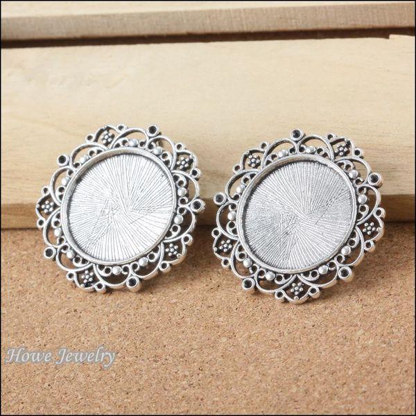 8pcs Vintage Charms Frame Pendant Ancient silver Fit Bracelets Necklace DIY Metal Jewelry Making B087