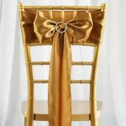 Gold Bow Elegant Beautiful New Coming Wedding Events Special Occasion Supplies Chair Sash Chair Covers Chic