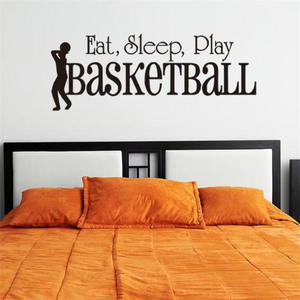 Großhandel 3d Schlafen Spielen Basketball Wandaufkleber Zitate Kunst Home Decor Art Decals Kinder Boy Room Decor Wandaufkleber Für Jungen Zimmer Von