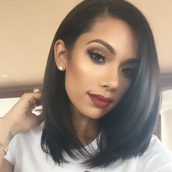 High Quality Lace Front Bob Wigs 7A Silky Straight Short Human Hair Bob Wigs Full Lace Human Hair Wigs For Black Women Bob Wigs in Stock