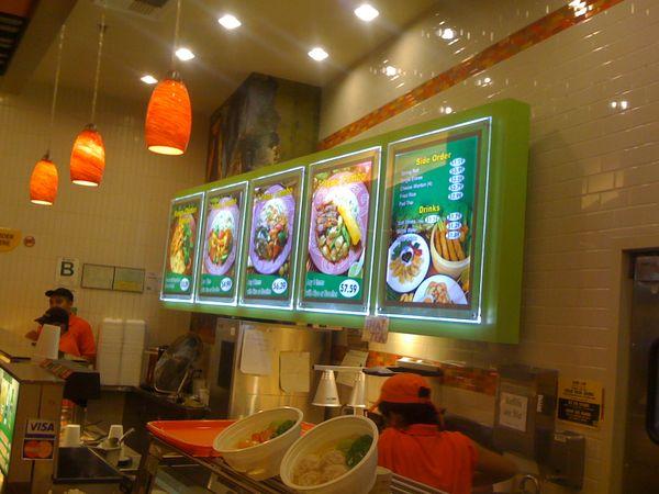 Led illuminated frame board slim light box menu