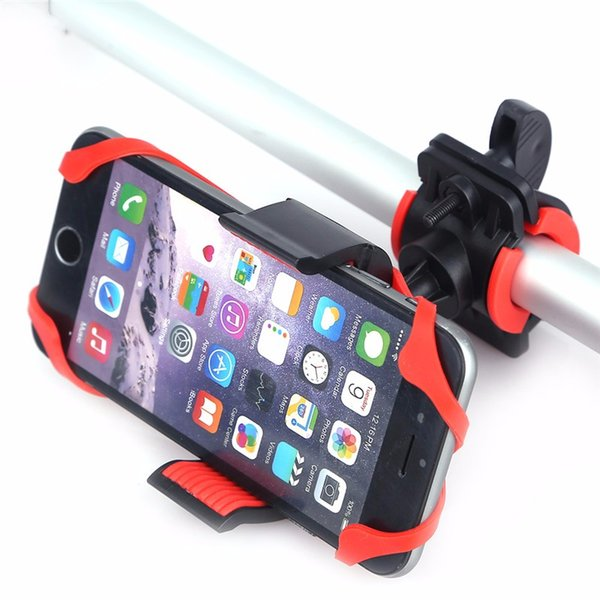 Bike Bicycle Spider Web Stand Holder Phone Handlebar Clip Stand Mount Bracket Flexible 360 Degree for iphone 6s Samsung Smart phone GPS